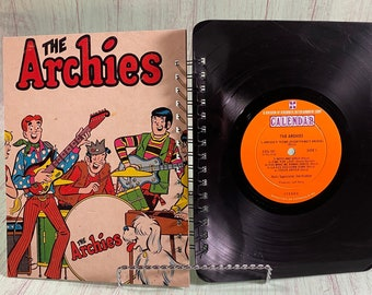 Archies Soundtrack vinyl notebook/ vinyl journal/ sketchbook/upcycled journal /unique gift/record journal/Archie and Veronica/Archie comics