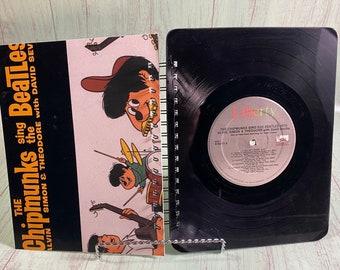Chipmunks Sing the Beatles vinyl notebook/sketchbook/upcycled journal notebook/record journal/vintage record/John Lennon/Paul McCartney