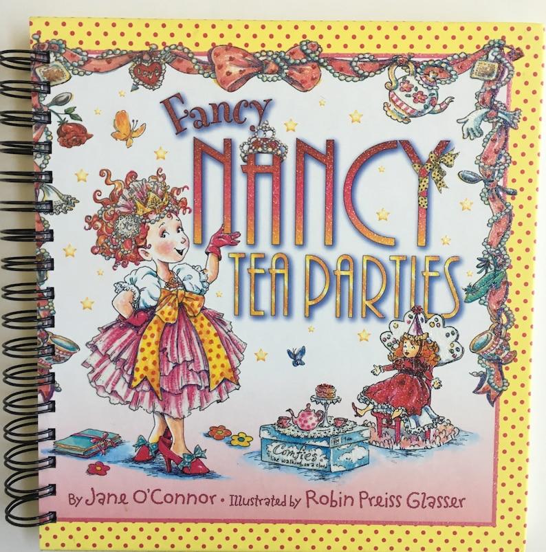 Fancy Nancy Book Sketchbookdiarytravel Journalbullet Journal Upcycled Journal Tea Party