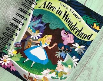 Disney planner/Alice in Wonderland  academic planner, storybook planner,upcycled planner, academic calendar, teacher planner