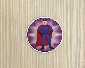 Superhero Vinyl Stickers