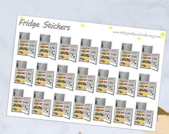 Fridge planner Stickers