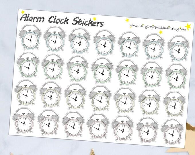 Alarm Clock Icon Planner Stickers