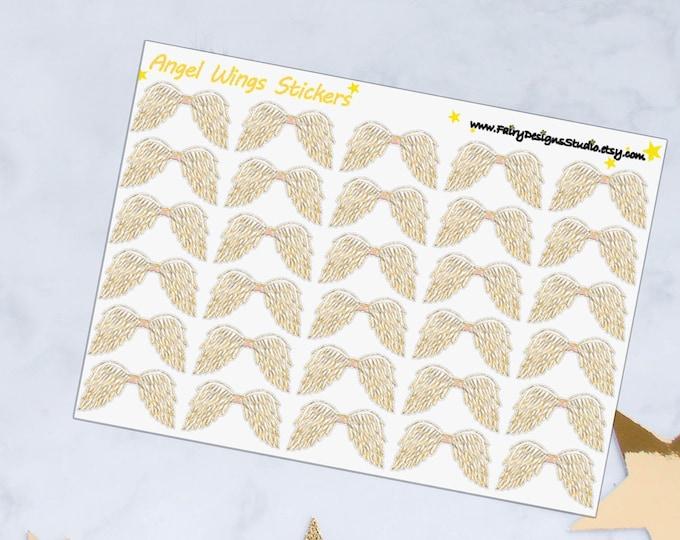 Angel Wings Planner Stickers