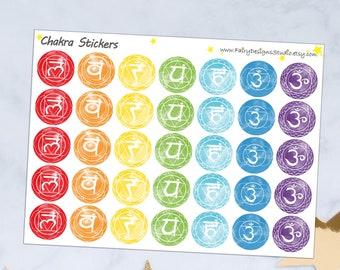 Chakra Planner Stickers
