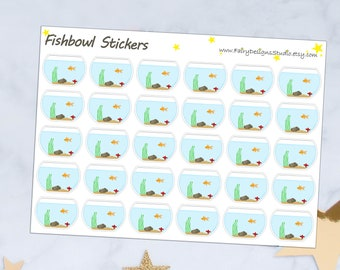 Fishbowl Planner Stickers