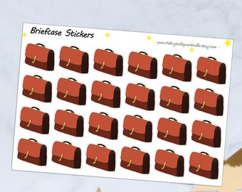 Briefcase Planner Stickers