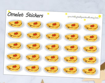 Omelet Planner Stickers