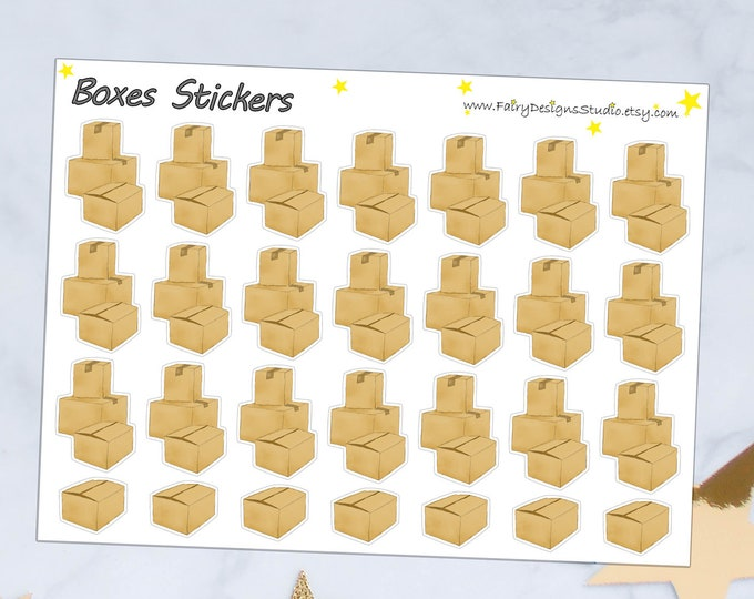 Boxes Planner Stickers