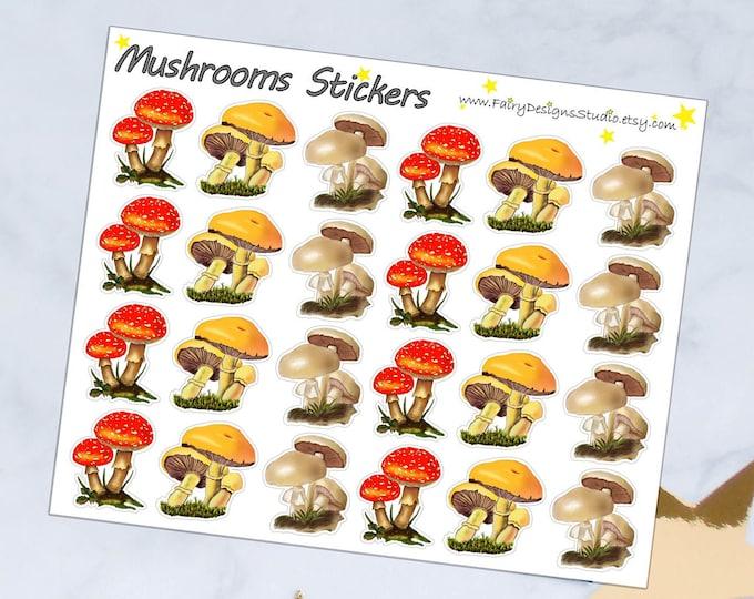 Mushrooms Planner Stickers