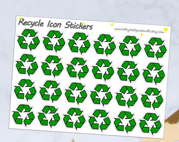 Recycle Icon Planner Stickers
