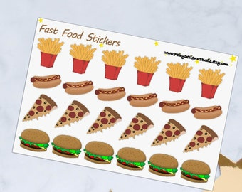 Fast Food Planner Stickers
