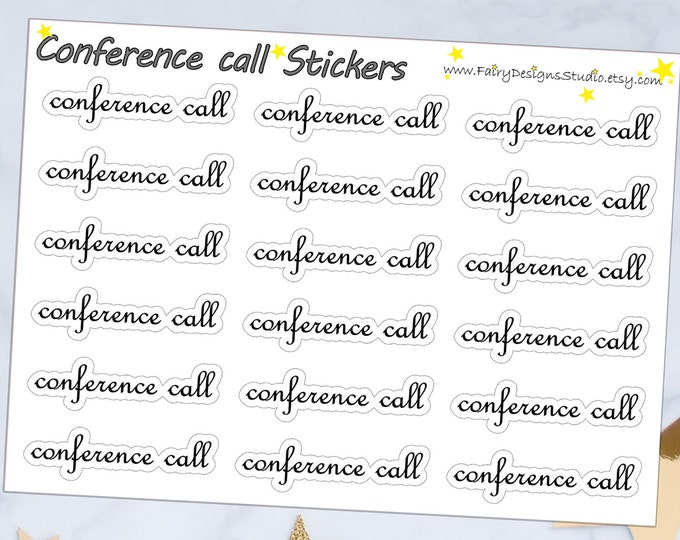 Conference Call Script Planner Stickers