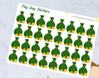 Pay Day Planner Stickers - Money Bags