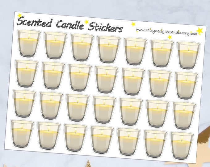 Scented Candle Planner Stickers
