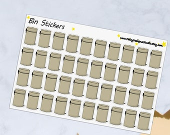 Bin Planner Stickers