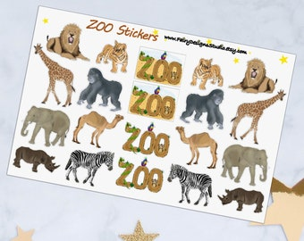 ZOO Animals Planner Stickers