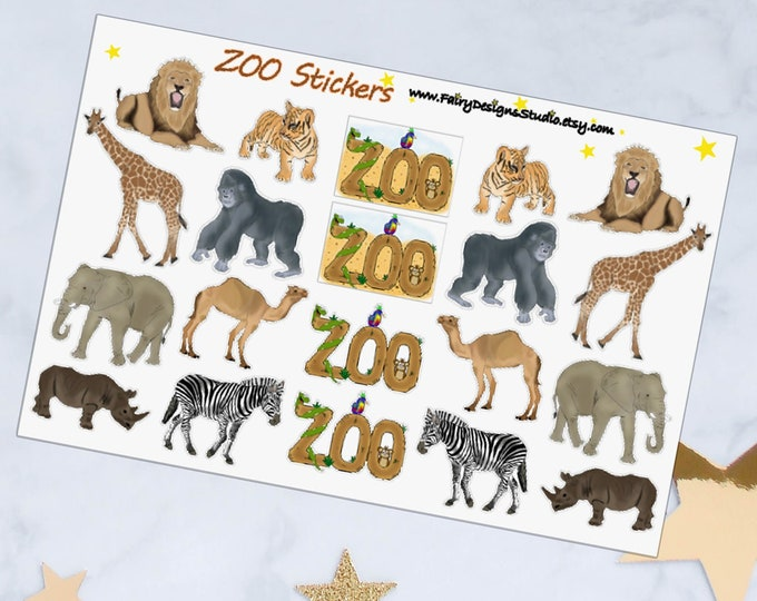 ZOO Animals Planner Stickers