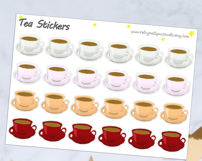 Tea Time Planner Stickers