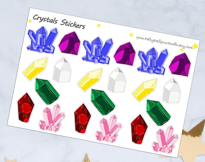 Crystals Planner Stickers