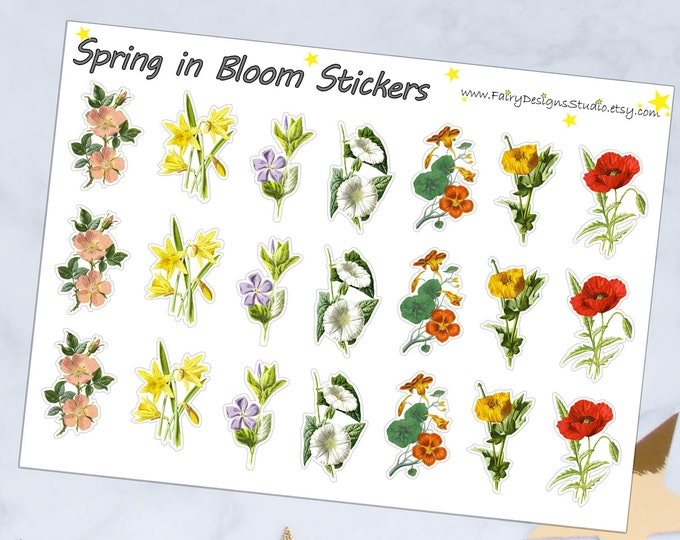 Spring in Bloom Planner Stickers