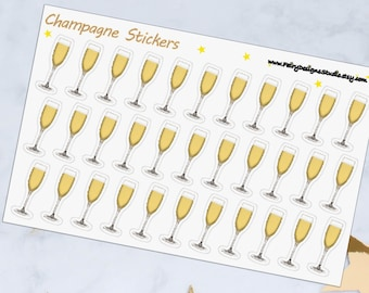 Champagne Planner Stickers