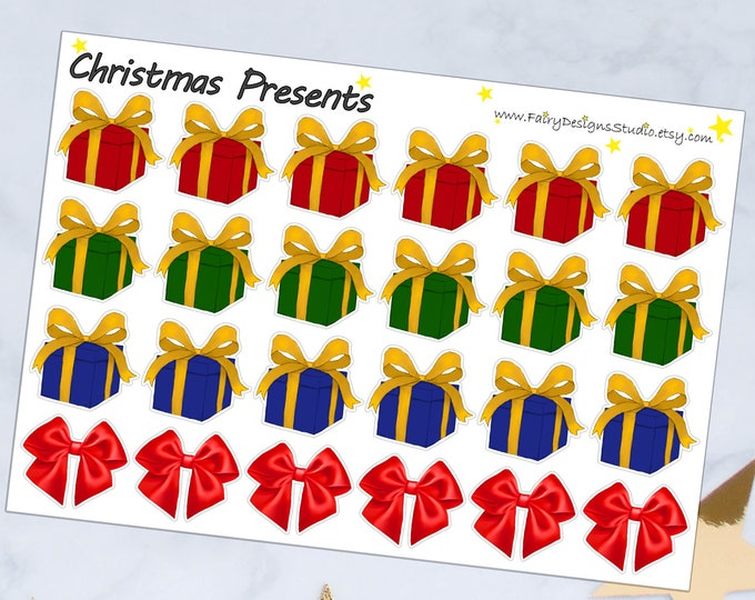 Christmas Presents Planner Stickers