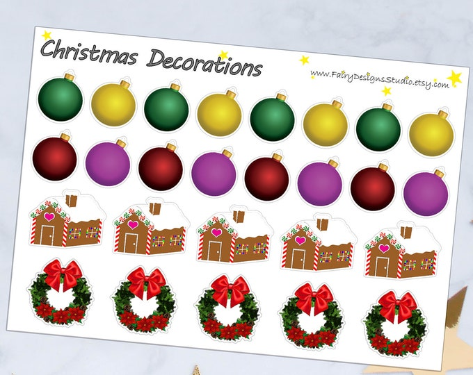 Christmas Decorations Planner Stickers