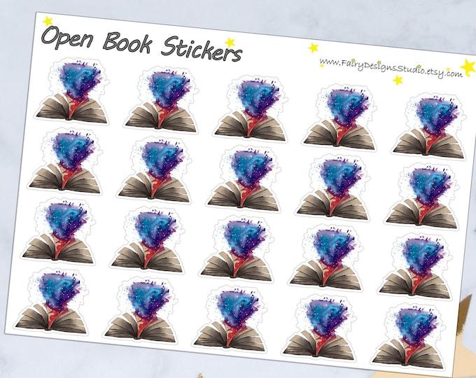 Open Book Planner Stickers