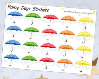 Rainy Days Planner Stickers