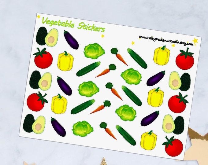 Vegetable Planner Stickers