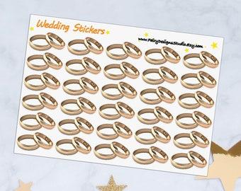 Wedding Rings Planner Stickers