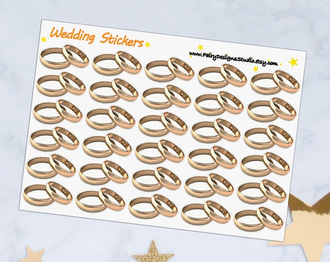 Wedding Rings Planner Stickers