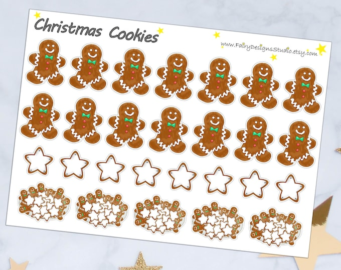 Christmas Cookies Planner Stickers