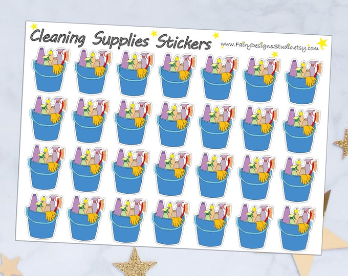 Cleaning Icon Planner Stickers