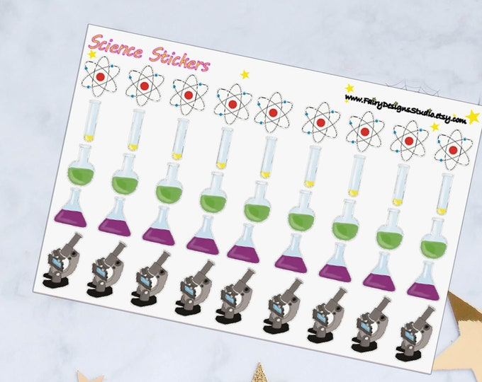 Science Planner Stickers