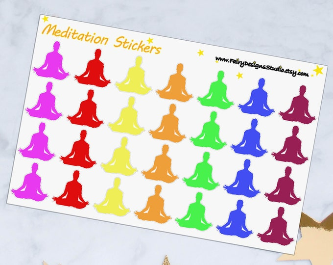 Meditation Planner Stickers