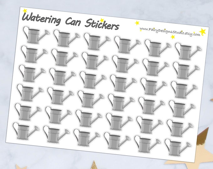 Watering Can Planner Stickers