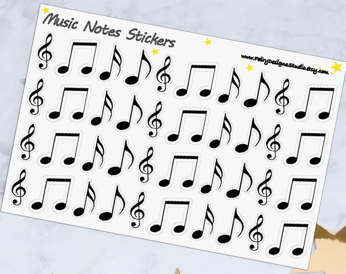 Music Notes Planner Stickers