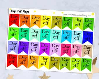 Day Off Flags Planner Stickers