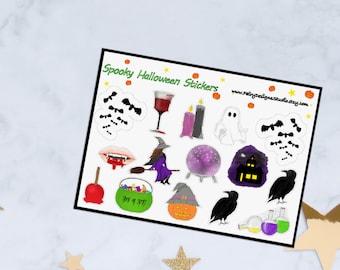 Spooky Halloween Planner Stickers