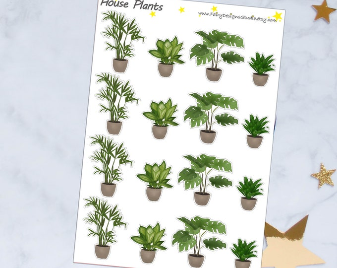 House Plants Planner Stickers