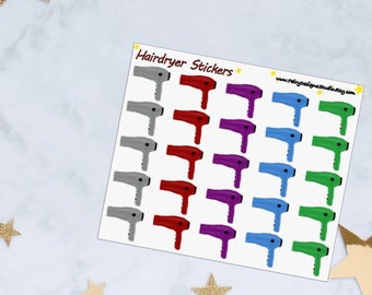 Hairdryer Planner Stickers