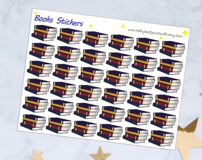 Books Planner Stickers