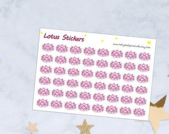 Lotus Flower Period Tracker Stickers
