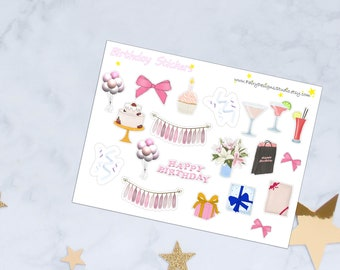 Birthday Planner Stickers