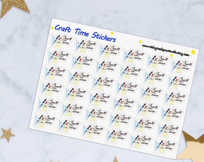 Craft Time Planner Stickers