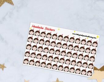 Headache Planner Stickers