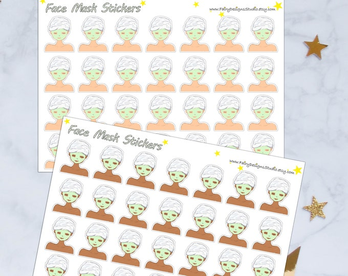 Face Mask Planner Stickers
