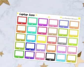 Laptop Icon Planner Stickers
